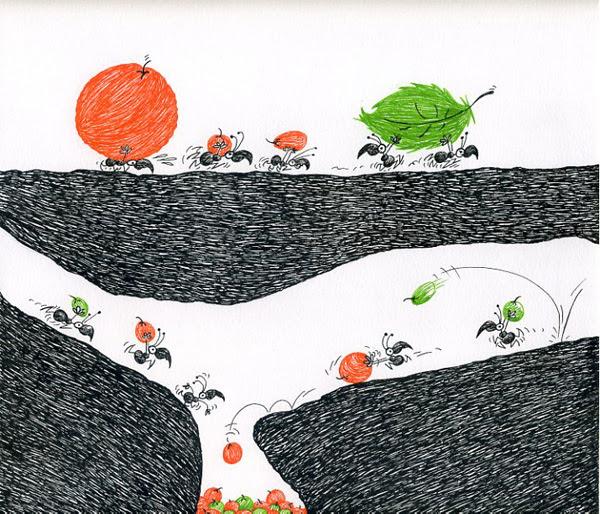 Dibujo Hormigas Hormiguero