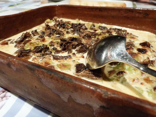 gratin de ravioles aux cèpes