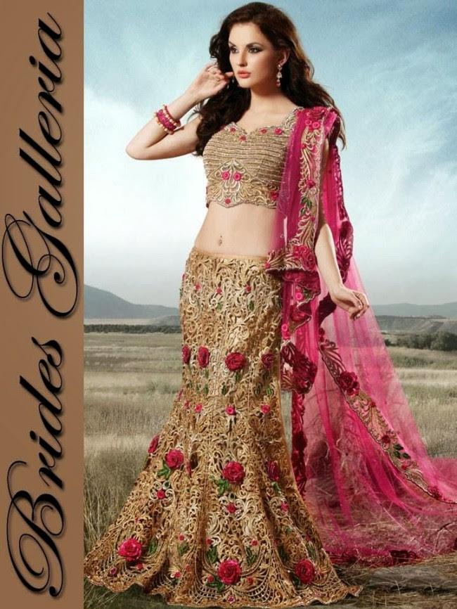 Indian-Bridal-Wedding-Lehangas-Velvet-Embroidered-Blouse-Fish-Cut-Lehenga-by-Brides-Galleria-11