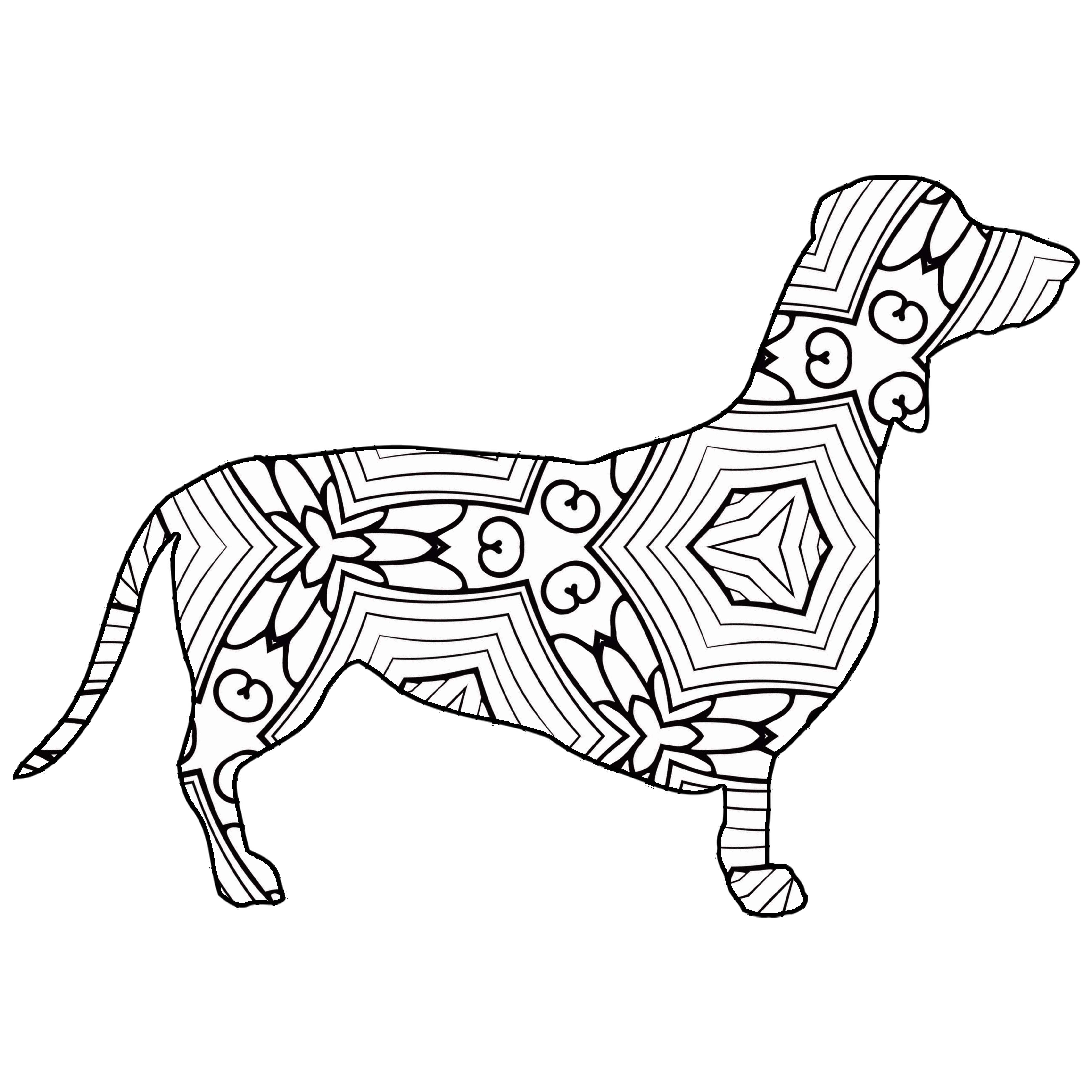 30 Free Printable Geometric Animal Coloring Pages   The ...