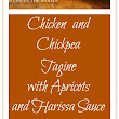 Chicken and Chickpea Tagine with Apricots and Harissa Sauce - That Susan Williams