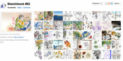 March 2012: Overview of Sketchbook #62 by apple-pine