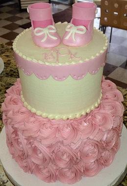 Custom Baby Cake http://unrefinedbakery.com/