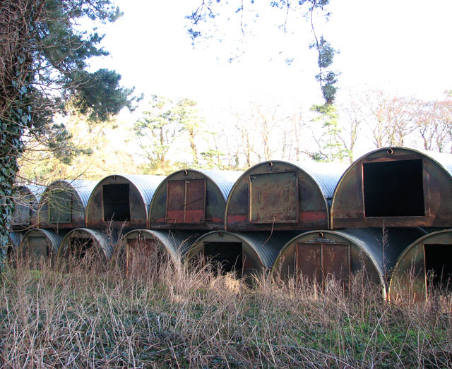 Pig Huts Stored At Fields Edge Evelyn Simak Geograph