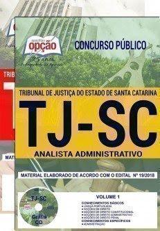 Apostila Concurso TJ SC 2018 | ANALISTA ADMINISTRATIVO