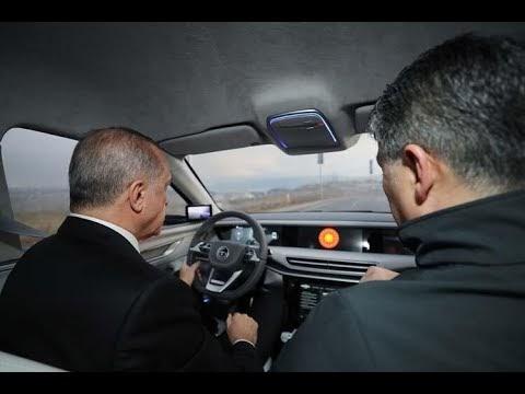 Cumhurbaşkanı Erdoğan Yerli Otomobili İle Test Sürüşü Yaptı,