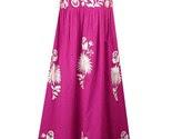Embroidered florals maxi dress(Fuchsia)