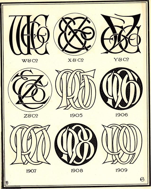 Monograms & Ciphers by AA Turbayne 1912 o