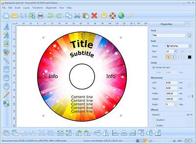 cd label maker screenshot 1