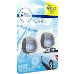 Febreze Vent Clip Car Air Freshener, Linen & Sky - 2 pack, 4 ml total