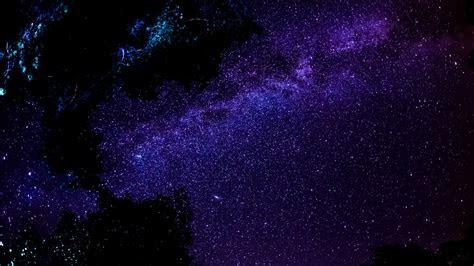 full hd wallpaper deep space cluster  stars dark violet