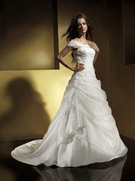 a line wedding dresses with cap sleeves Wedding Dresses