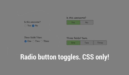 Radio buttons as toggle buttons with CSS - The Stiz Media