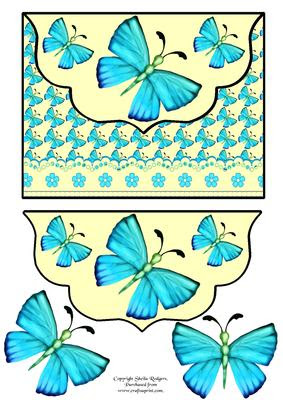 Download Aqua Meadow Butterfly Envelope Card - CUP194089_66 ...
