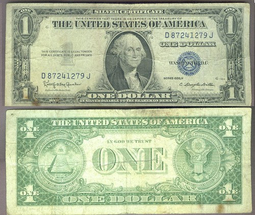 5 Note Lot $1 Blue Seal $1 Barr Note $2-1976 Note $2 Red Seal $5 Red Seal