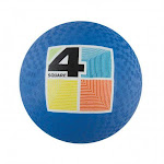 """Franklin 6325 Rubber Playground Ball, 8.5"""", Assorted Colors"""