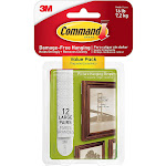 Command 17206-12es Picture Hanging Strips Value Pack, White, Large, 12-pairs