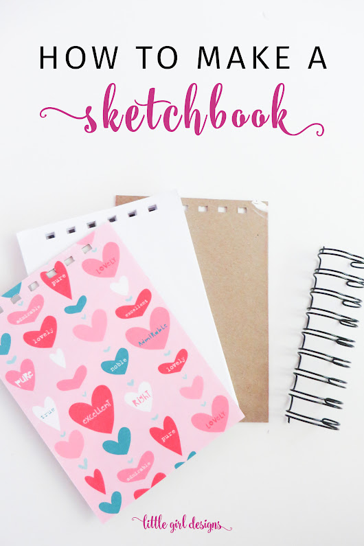How to Make Your Own Sketchbook With An Easy Non-Stitch Tutorial | Jennie Moraitis