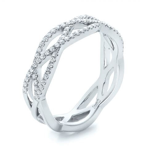 Custom Diamond Criss Cross Wedding Band #102233