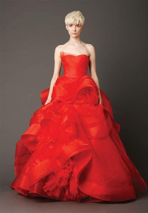 Red Wedding Dresses   DressedUpGirl.com