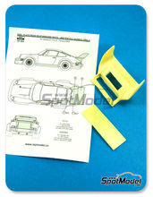 Transkit 1/24 Reji Model - Porsche 934/5 rear spoiler - aleron trasero - resinas para kit de tamiya TAM24328