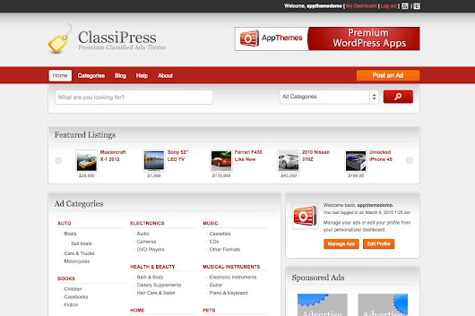 WordPress Classified Ads Theme
