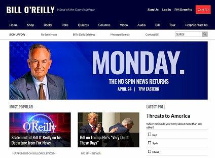 Bill O'Reilly's return to prime-time Monday.