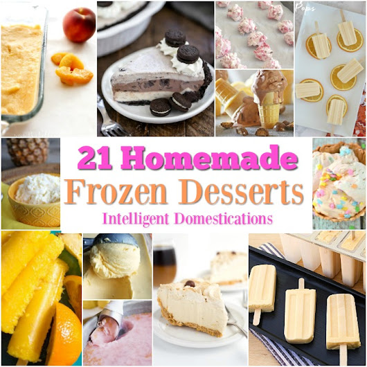 21 Homemade Frozen Summer Desserts MM 212 | Intelligent Domestications