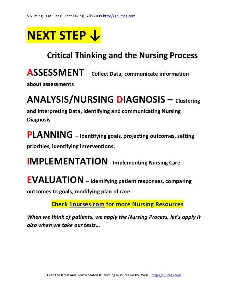 5 Nursing Care Plans and Test Taking Skills