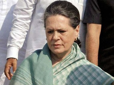 FIle image of Congress interim president Sonia Gandhi. News18