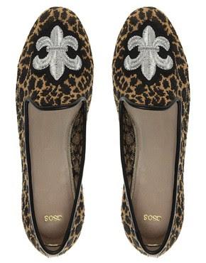 Image 3 ofASOS LEO Crest Slipper Shoes