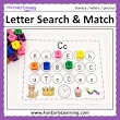 Letter Search & Match - Letter Recognition, Identification, & Letter Sounds