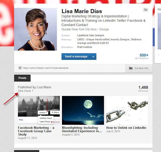 The Difference Between Sharing an Update and Publishing a Post on LinkedIn - LisaMarie Dias Designs