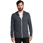Alternative Unisex Eco-Jersey Zip Hoodie-ECO TR NAVY-M