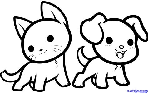 draw kawaii animals step  step anime animals