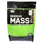 Optimum Nutrition Serious Mass Weight Gain Powder, Chocolate - 12 lb bag