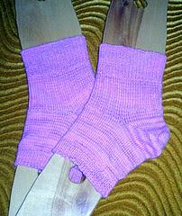 Pedicure socks on blocker