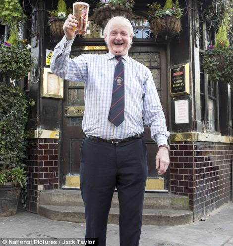 Landlord Gerry O'Brien of the Churchill Arms