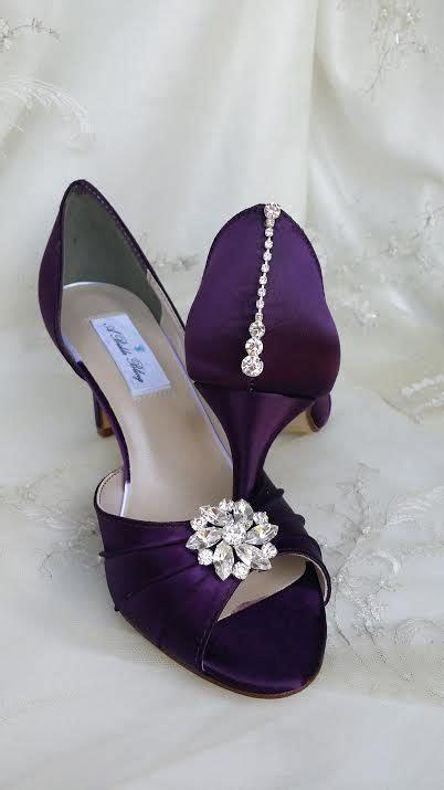 Amazing wedding shoes that I have dyed eggplant purple