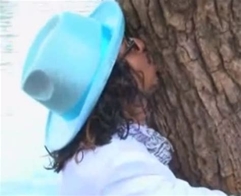 Now that's what we call a tree hugger    Silly Season
