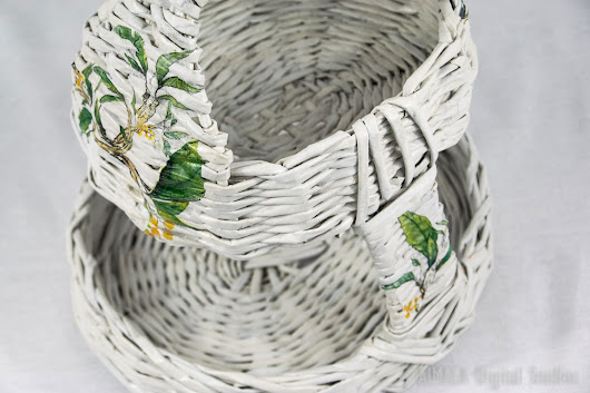 Two level vintage fruite holder basket