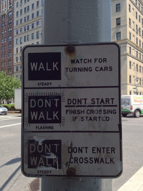 Before the hand and the man: A reminder of the city's classic crosswalk signs