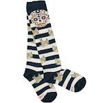 Women's Loungefly Nautical Striped Tattoo Knee High Socks - one size