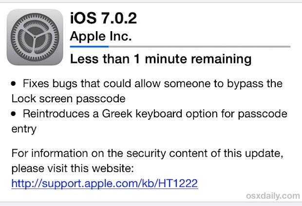iOS 7.0.2 Update OTA