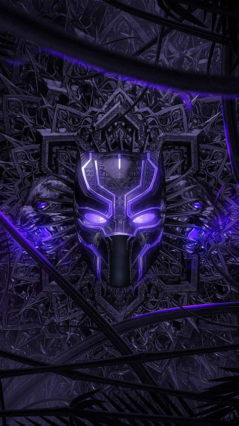black panther purple vibranium suit iphone wallpaper
