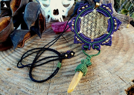 Flower of Life Necklace Flower of Life Macram sacred