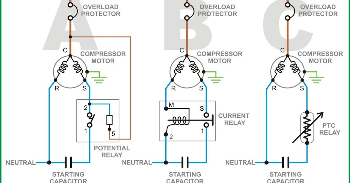 Fridge Refrigerator Start Relay Wiring Diagram