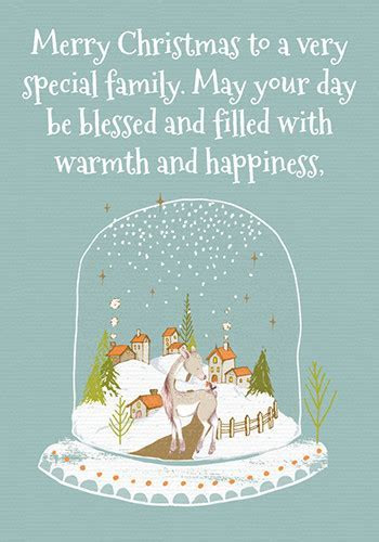 Christmas Wishes For A Special Family. Free Friends eCards