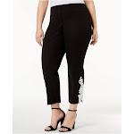 ALFANI Womens Black Wear To Work Pants Plus Size: 22W