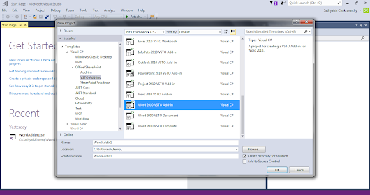 Do Visual Studio Community editions support Visual Studio Tools for Office (VSTO)? Add-in designer doesn't show up
